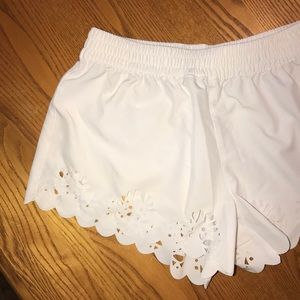 White shorts with cute trim